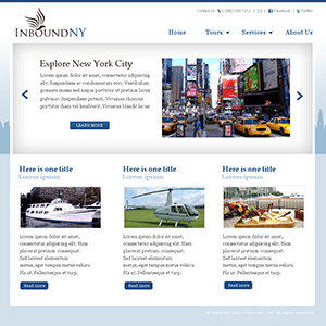 WordPress Theme Design for a Travel Agency
