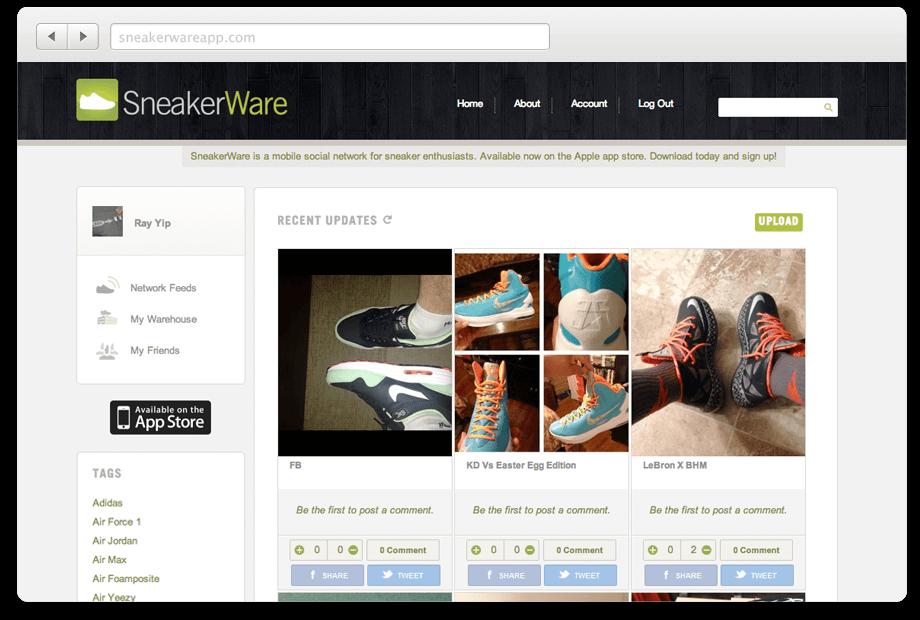 SneakerWare Social Network