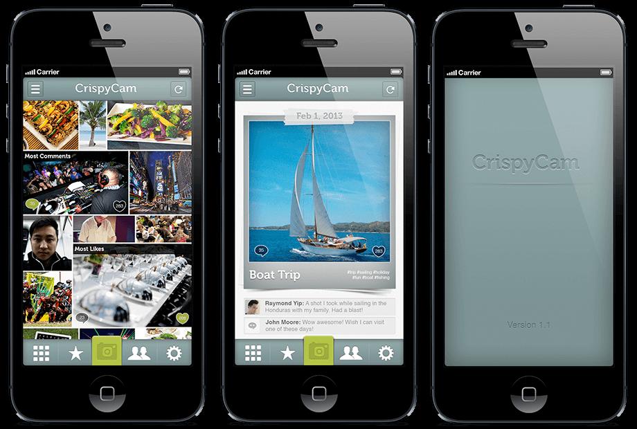 Crispy Cam App Design