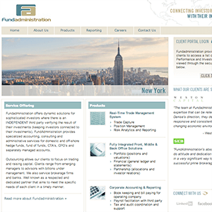 Site Design for a Financial Services Company