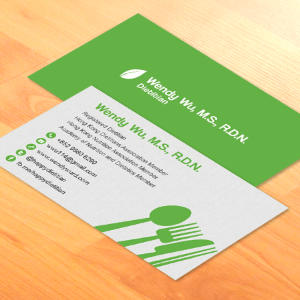 Business Card Design for a Dietitian