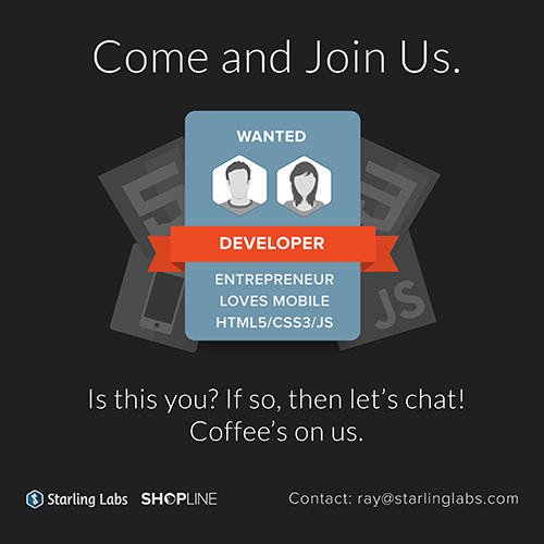Developer Recruitment Poster