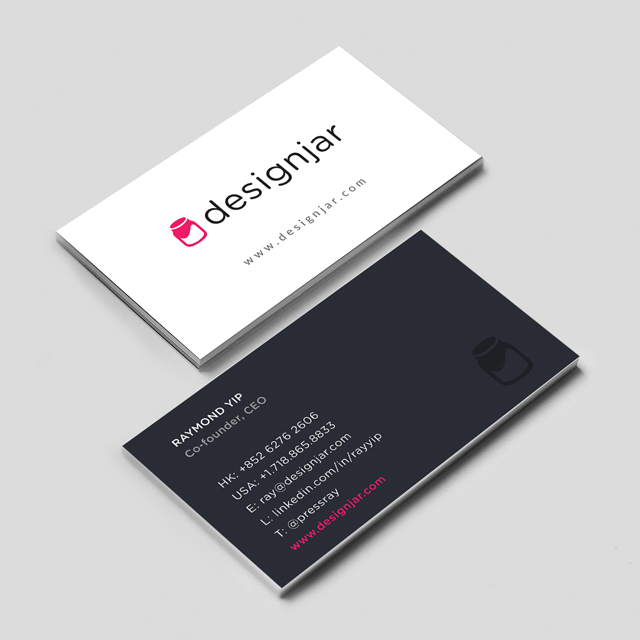 business card design for designjar